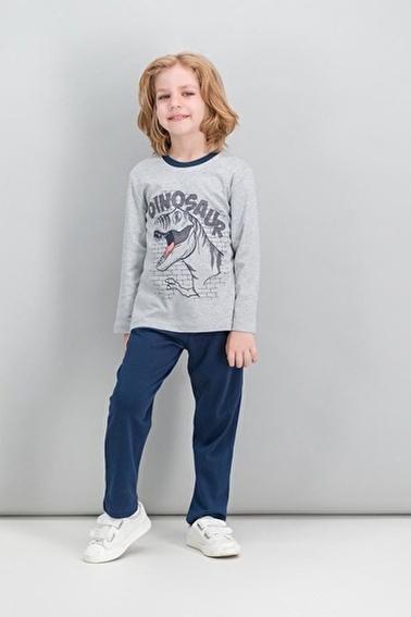 Roly Poly Rolypoly  Açık Gri Erkek Çocuk Pijama Takımı Gri